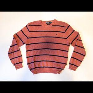 🐎Polo Ralph Lauren Sweater Crew Neck Striped SZ M